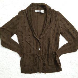 🔴 Brown Knit cardigan